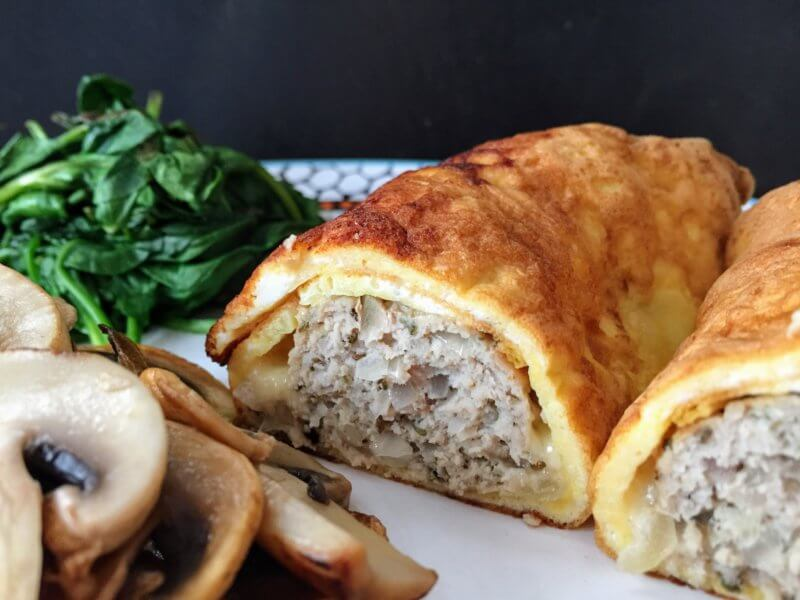 Cheesy egg wrap sage & onion sausage rolls