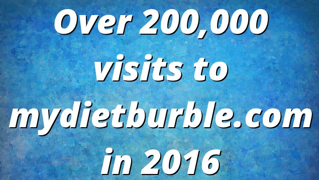 Over 200,00 Visits in 2016 & The Top 25 Recipes