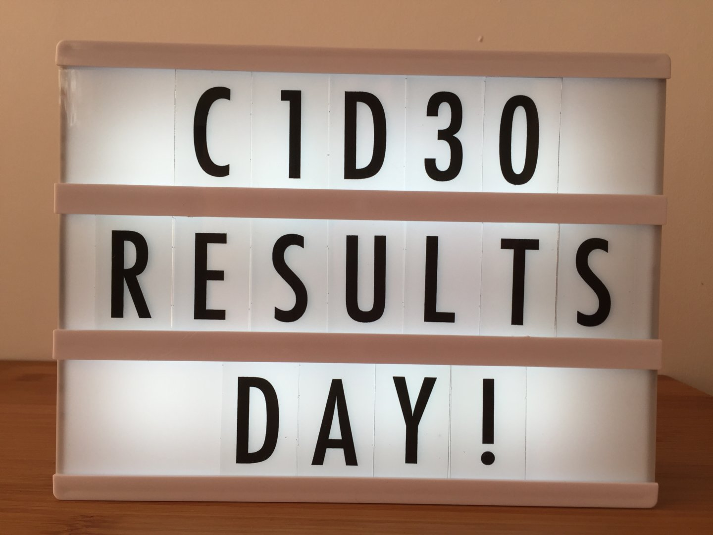 C1D30 – Results submission day!