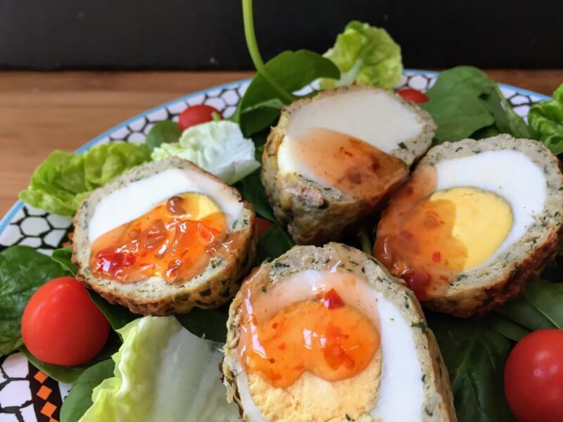High Protein, Low Carb, Low Fat Scotch Egg