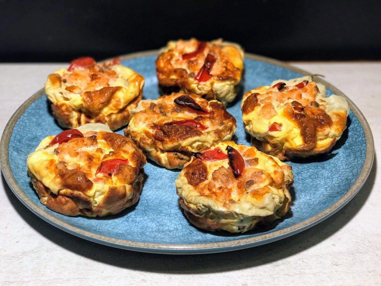 Smoked salmon muffins