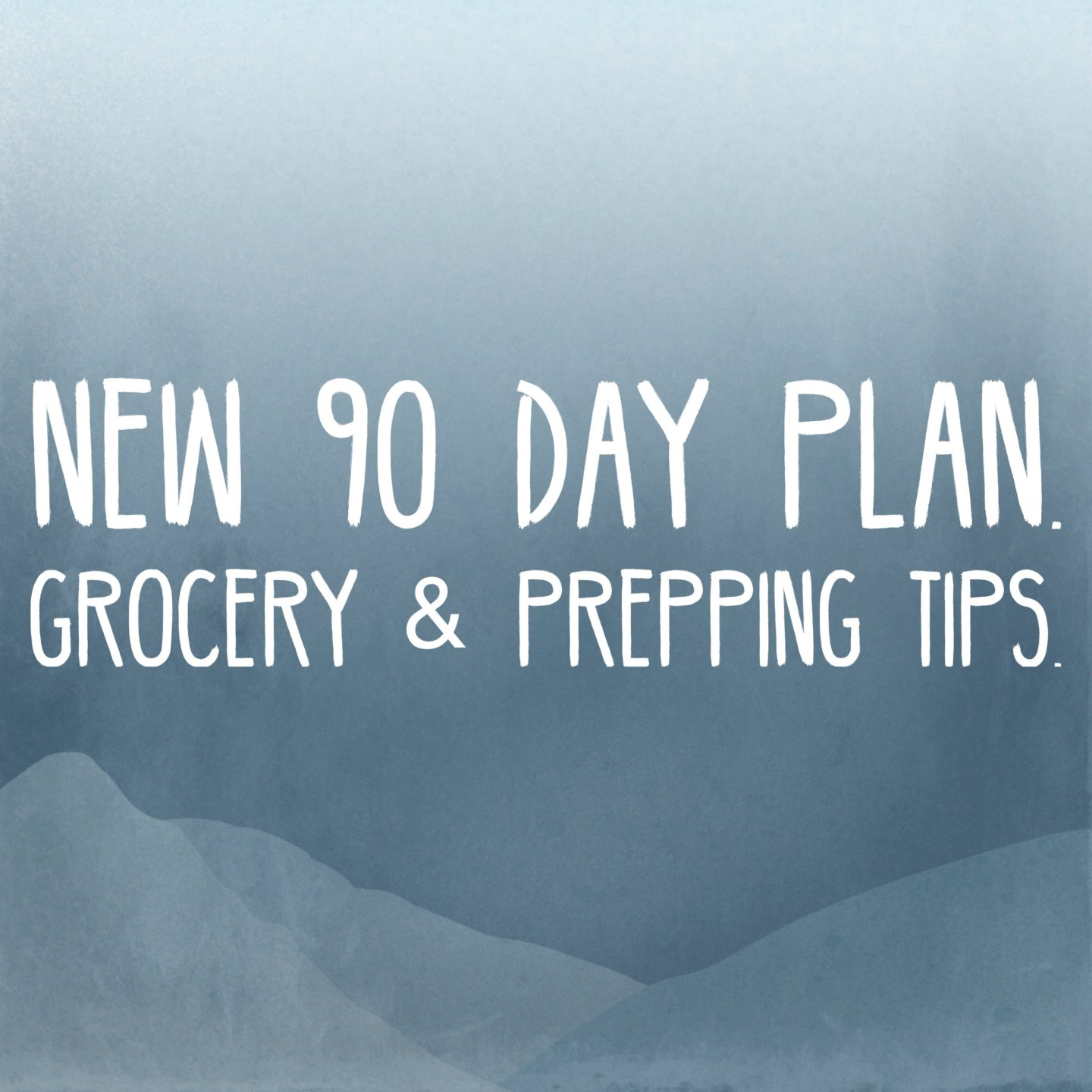 New 90 Day Plan,  grocery and prep tips
