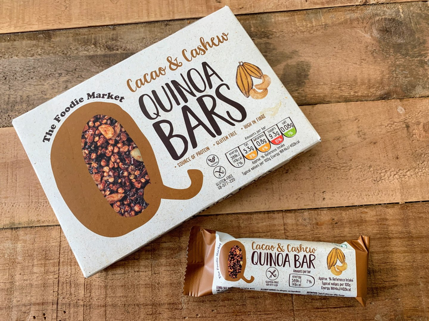 Cacao & Cashew Quinoa Bar – Product Review