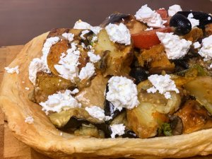 Warm Vegetable and Feta Tart