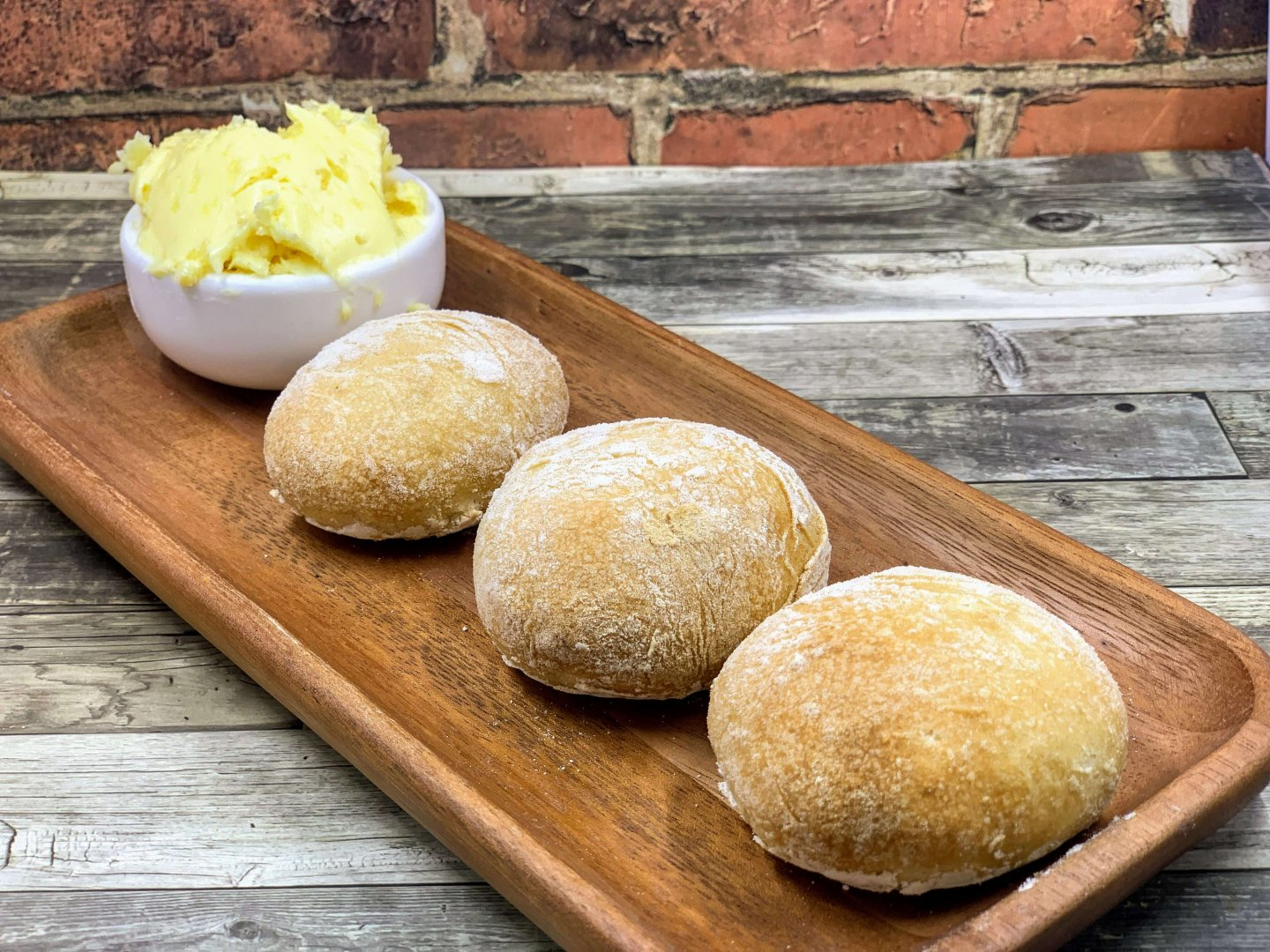 Dough balls with garlic butter