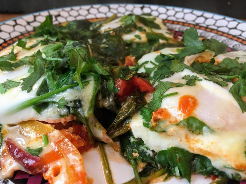 Breakfast egg inferno