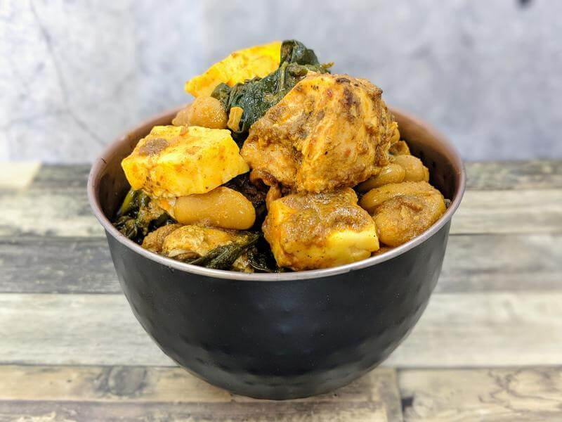 Chicken and 3 bean curry