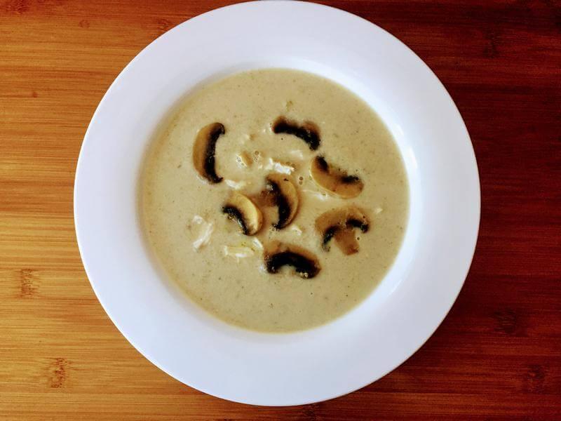 Chicken, mushroom & tarragon soup
