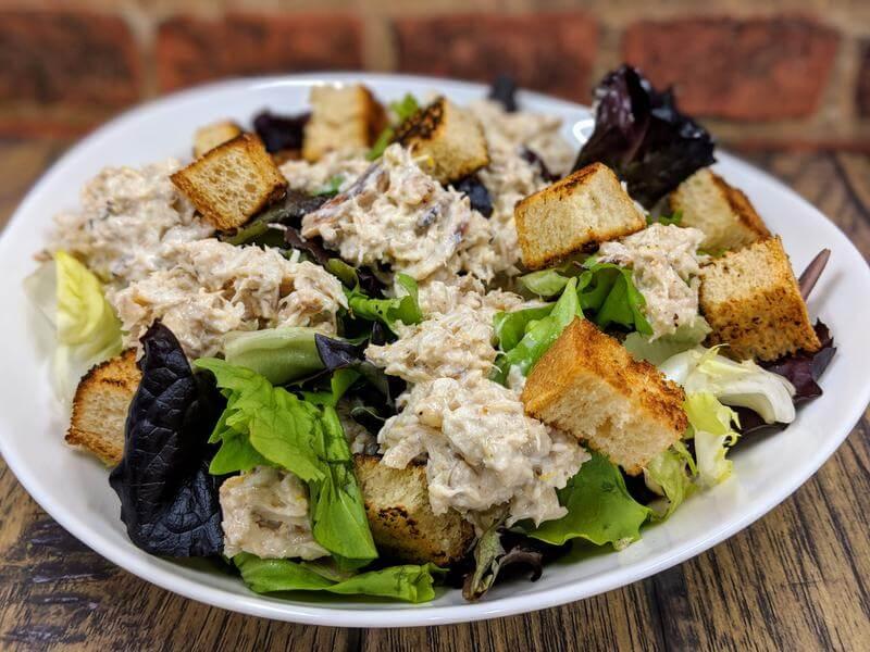 Crab Caesar salad with a lemon twist