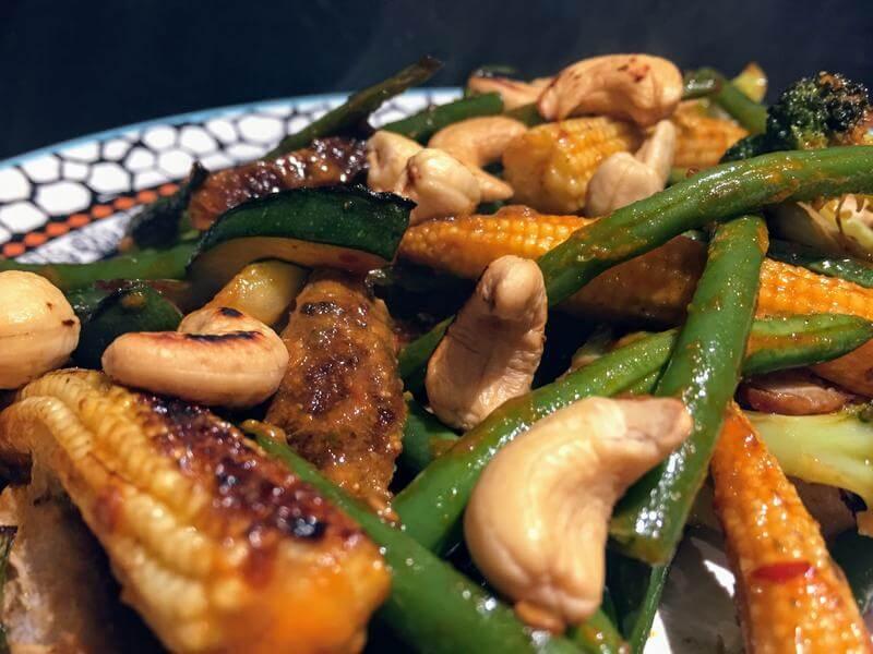 Double Thai spiced beef stir fry