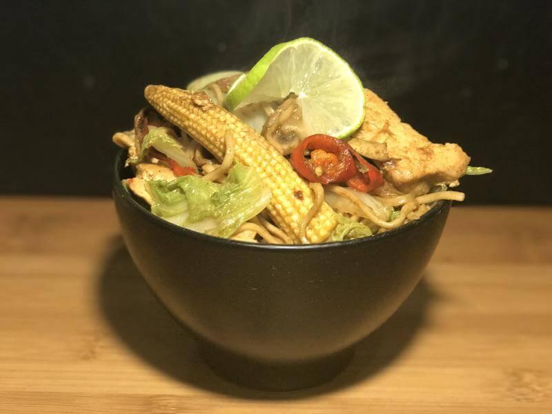 Firecracker chicken noodles