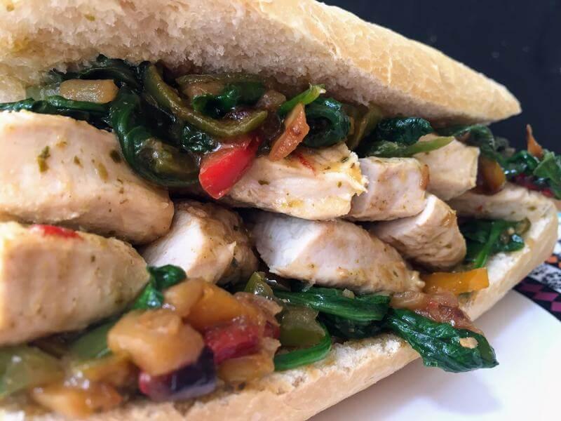 Green thai turkey sandwich
