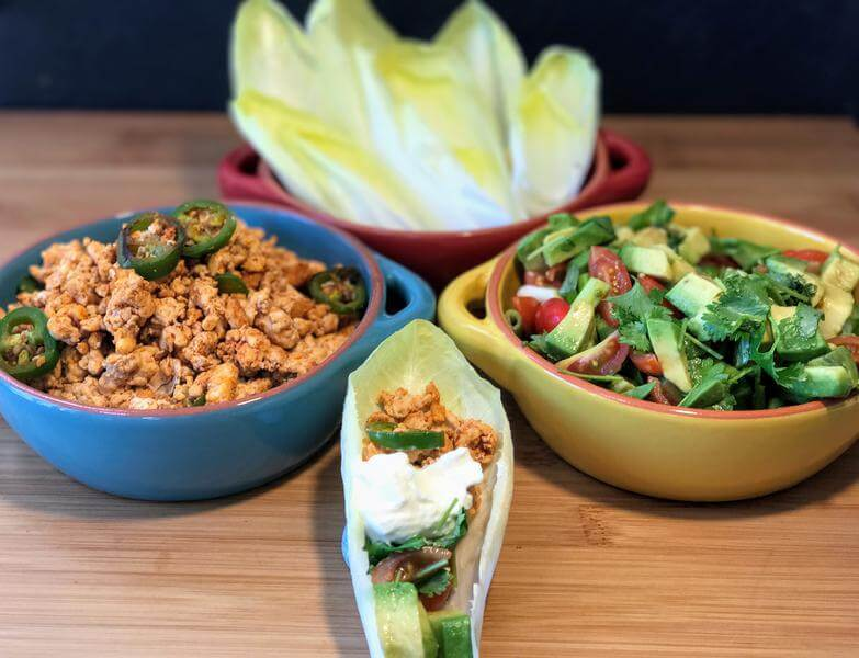 Lean turkey & chunky salsa boats