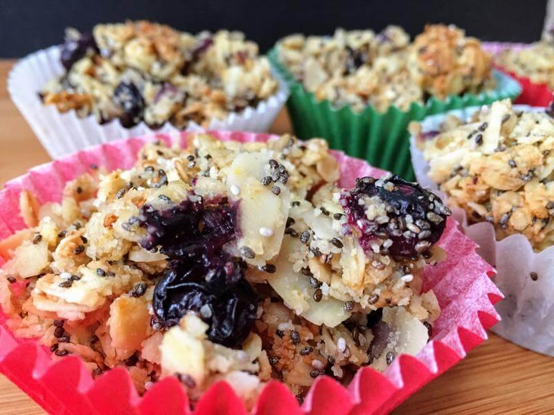 Lemon & blueberry oatie crumble
