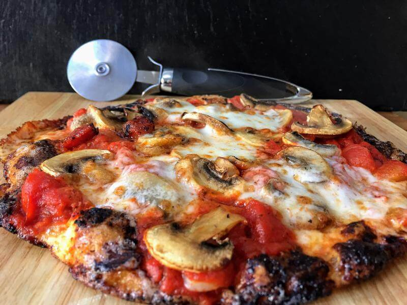 Margherita low carb pizza