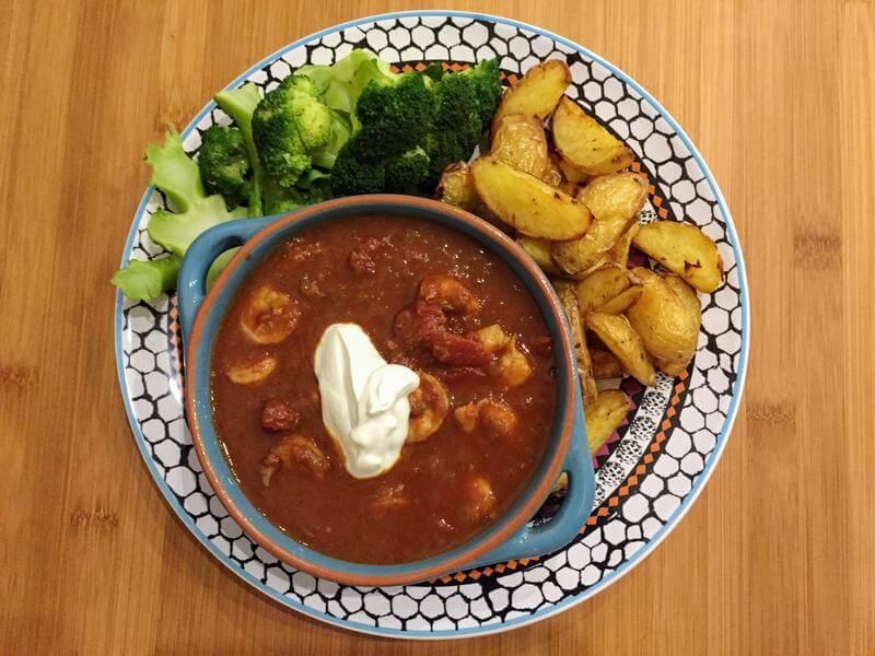 Mexican prawn stew