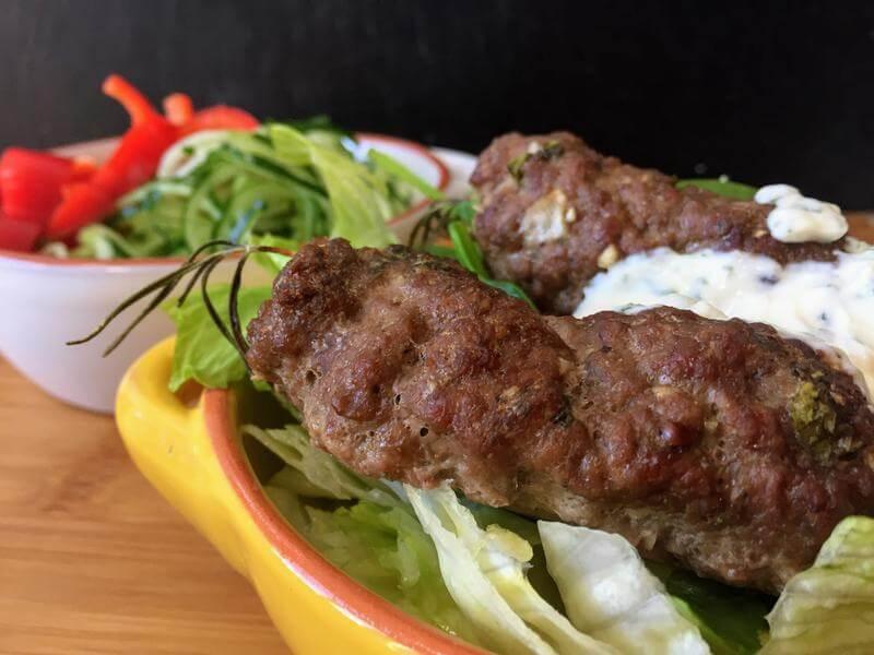 Mezze style meatball kebabs