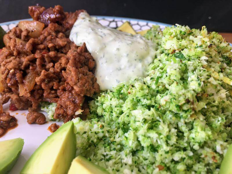 Moroccan beef with lemon & herb faux cous cous