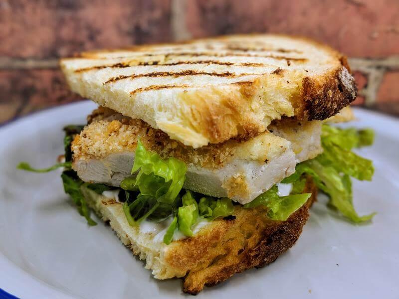 Parmesan crusted chicken mayo sandwich