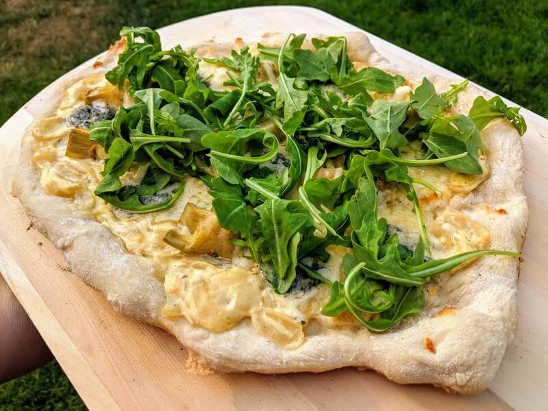 Pizza in Bianca
