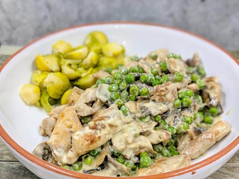 Quickie creamy chicken stew
