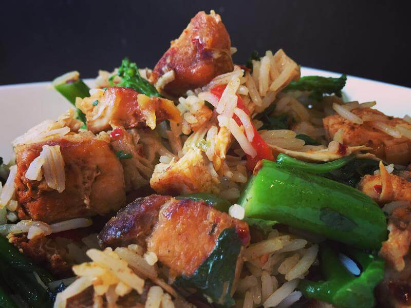 Smoking hot thai chicken fried rice