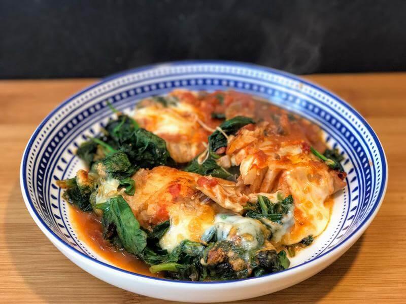 Tapas style cheesy fish stew
