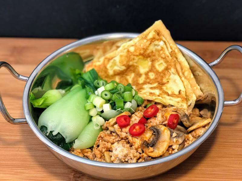 Thai spiced turkey breakfast pot