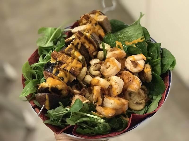 Tumbledown kebab salad