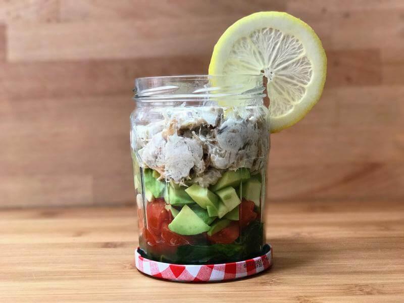 Zesty mackerel salad pot