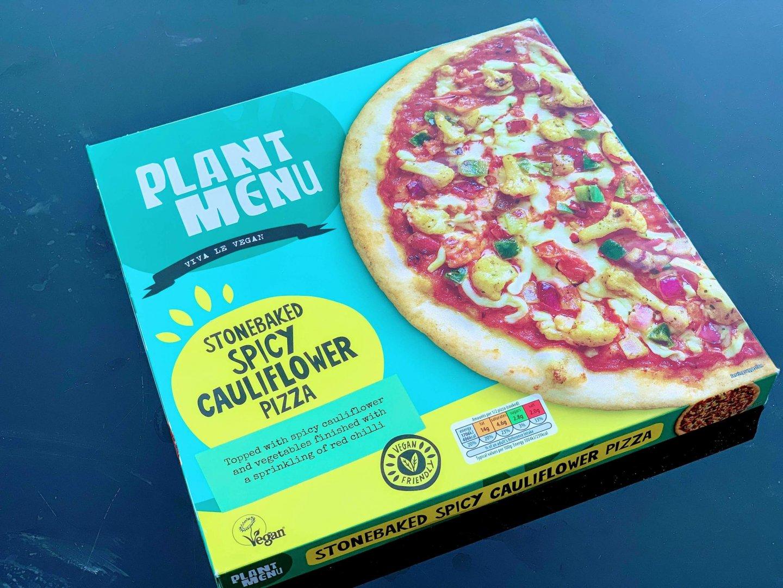 Aldi Plant Menu Stonebaked Spicy Cauliflower Pizza –  Product Review