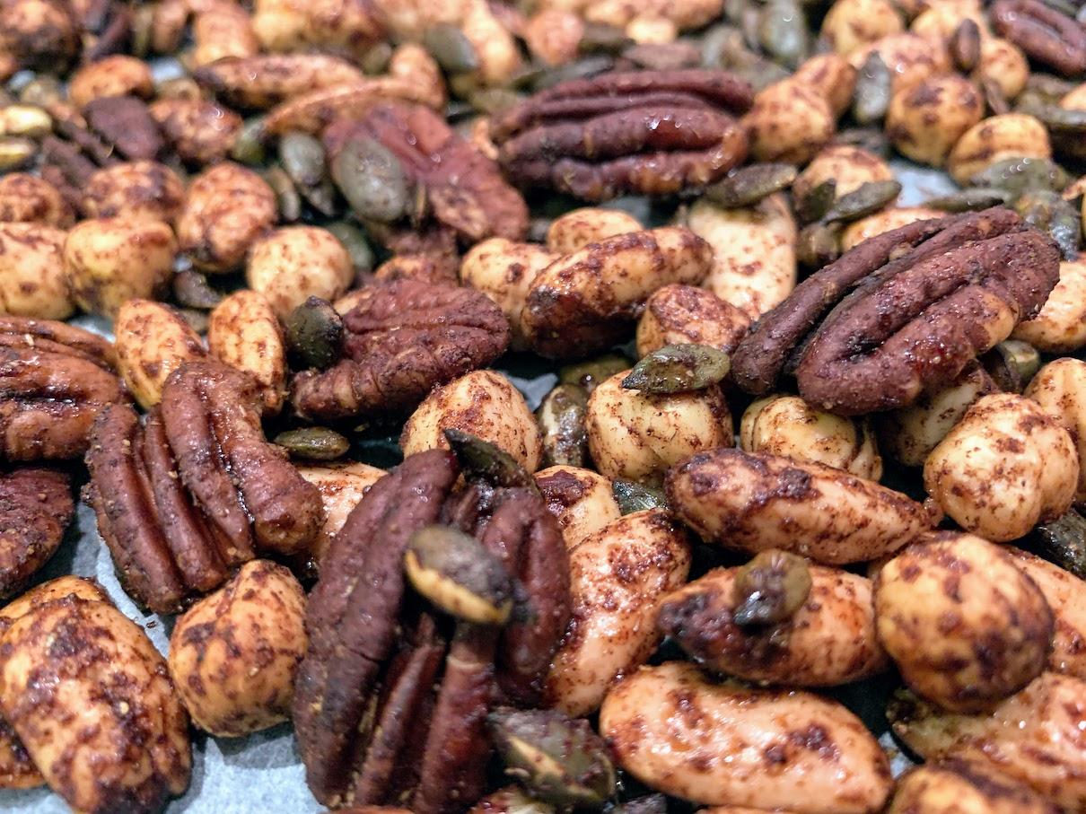 Sticky Spiced Nuts