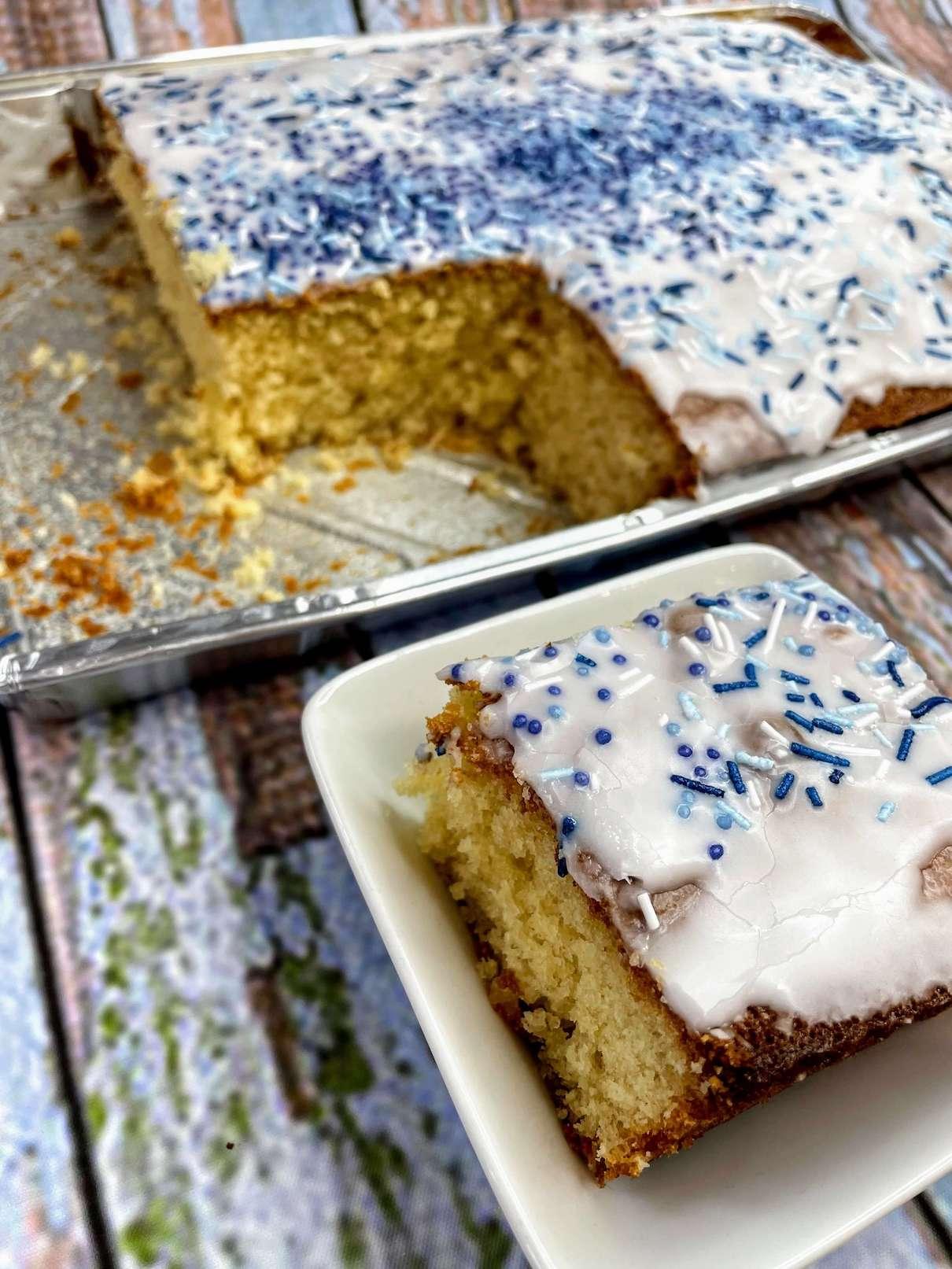 School Dinner Cake Traybake